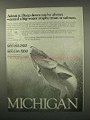 1982 Michigan Tourism Ad - Big-Water Trophy Trout