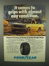1982 Goodyear Wrangler Radial Tire Ad - Comes To Grips