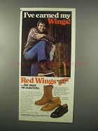 1982 Red Wing Shoes Ad - Model: 877, 595, 101