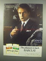 1982 Barclay Cigarettes Advertisement - The Pleasure is Back