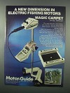 1982 Motor-Guide Outboard Motor, Magic Carpet Ad