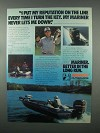 1982 Mariner Outboard Motor Ad - My Reputation