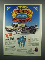 1982 Evinrude Outboard Motor Ad - Boatshow Sweepstakes