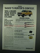 1982 Tasco Scopes Ad - Hunter's Contest