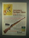 1982 Savage Model 110-C Rifle Ad - Accuracy Spoken Here