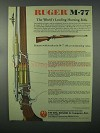 1982 Ruger M-77 Ad - World's Leading Hunting Rifle