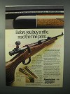 1982 Remington Model 700 Rifle Ad - Read Fine Print