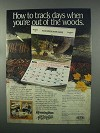 1982 Remington Firearms Ad - Track Days Out of Woods