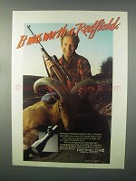 1982 Redfield Illuminator Widefield Scope Ad - Worth
