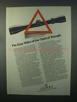 1982 Leupold Scopes Ad - The Four Sides of the Triangle