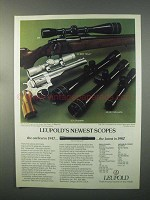 1982 Leupold Scopes Ad - 2x EER Silver, 12x Silhouette