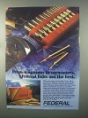 1982 Federal Cartridge Carrier Ad - Magnums Varminters