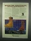 1982 Browning Waterproofs Boots Ad - Weight Advantages
