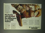 1982 Smith & Wesson Ad - Model 22 and Model 27 Holsters