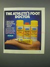 1982 Dr. Scholl's Athlete's Foot Products Ad