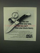 1982 Schrade Uncle Henry Bear Paw LB7 Knife Ad