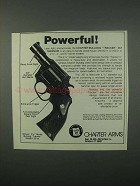 1982 Charter Arms Bulldog Tracker .357 Magnum Ad