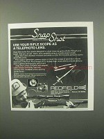 1982 Redfield Snap Shot Scope Camera Ad