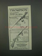 1982 Auto-Ordnance Thompson Gun Ad - Model 1927 A-5