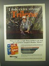 1981 Berkley Trilene Fishing Line Ad - Extra Strong