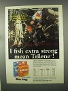 1981 Berkley Trilene Fishing Line Ad - Extra Mean