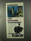 1981 Johnson Force Fishing Reel Ad - Land More