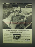 1981 Exxon Motor Oil Ad - 118,000 Miles Still Trucking