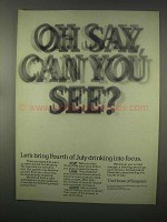 1981 Seagram Whiskey Ad - Oh Say Can You See