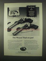 1981 Dan Wesson .22 and .357 Double Action Revolver Ad