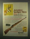 1981 Savage Model 110-C Rifle Ad - Accuracy Here