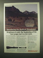 1981 Redfield Illuminator Scope Ad - Brightness