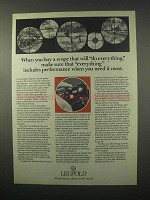 1981 Leupold Scopes Ad - Performance When You Need It