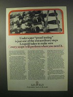 1981 Leupold Scopes Ad - Underwater Proof Testing