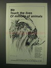 1981 Humane Society Ad - Touch the Lives of Animals