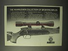1981 Mannlicher Rifles Ad - Collection Sporting Rifles