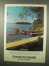 1980 Ontario Canada Tourism Ad - Fly Fishing!