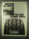 1980 Firestone All Terrain Tires Ad - For Getaway Truck