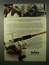 1980 Daiwa 1000X Fishing Reel Ad - Shark Caught