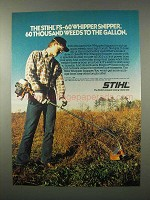 1980 Stihl Whipper Snipper Ad - 60 Thousand Weeds