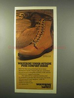 1980 Wolverine Boots Ad - Tough Outside Comfort Inside