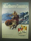 1980 Marlboro Cigarettes Ad - Come to Marlboro Country