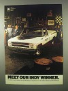 1980 GMC Indy Hauler Truck Ad - Our Indy Winner