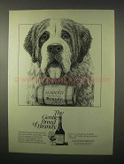 1980 Almaden Brandy Ad - The Gentle Breed