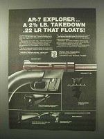 1980 Charter Arms AR-7 Explorer Rifle Ad - Floats!