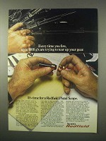 1980 Redfield Pistol Scope Ad - Tear Up Your Gear