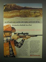 1980 Redfield Accu-Trac Scope Ad - 475 Yards Away