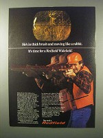 1980 Redfield Widefield Scope Ad - In Thick Brush