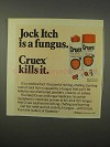 1980 Cruex Medicated Powder and Cream Ad - Jock Itch