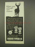 1980 Hodgdon Powder Ad - Only Get One Chance
