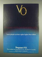 1979 Seagram's V.O. Whisky Ad - Set Sights Higher